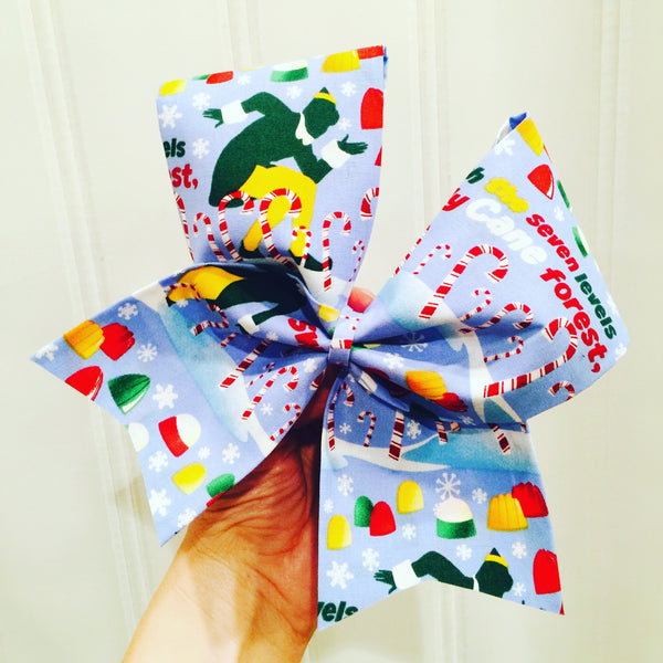 Elf The movie Christmas Holiday Cheer Bow