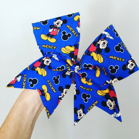 Big Bright Mickey Mouse Cheer Bow