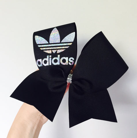 Adidas Black Holographic Cheer Bow