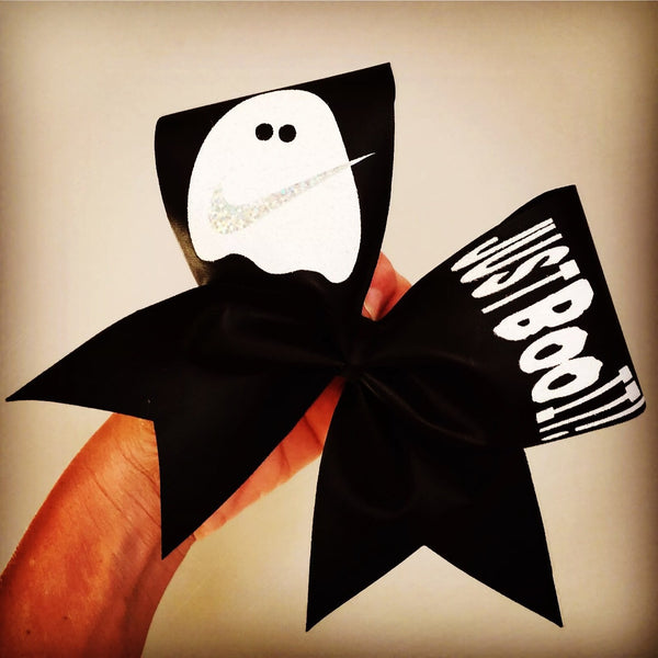 JUST BOO IT Halloween Cheer Bow Ghost Nike swoosh
