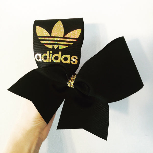 Gold and Black adidas Cheer Bow