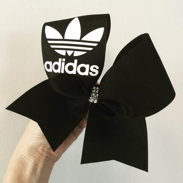 Black and White glitter Adidas Cheer Bow
