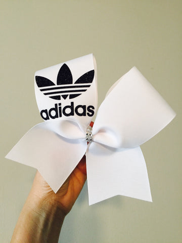 Adidas vintage Trefoil black and white Cheer Bow