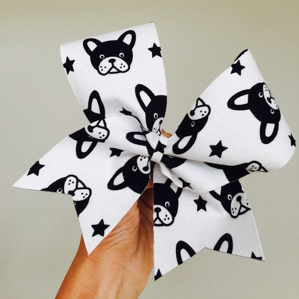 Frenchie French Bulldog big cheer bow
