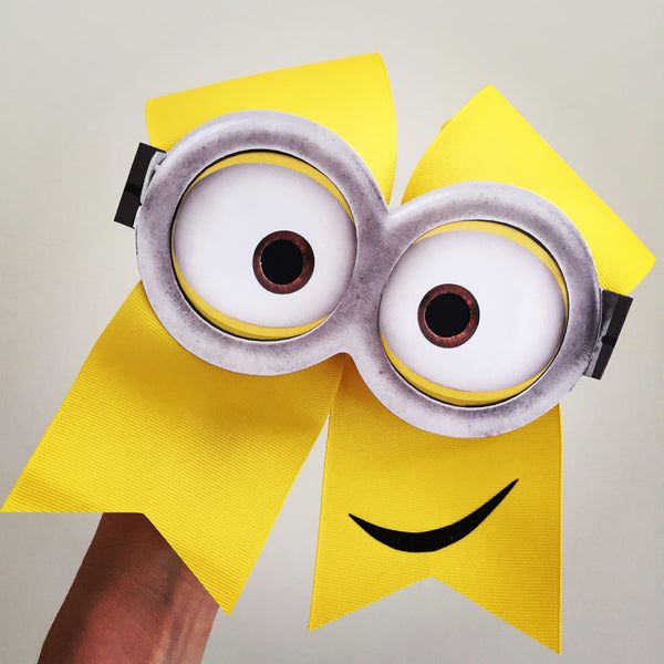 Yellow Minion Cheer Bow Cute!