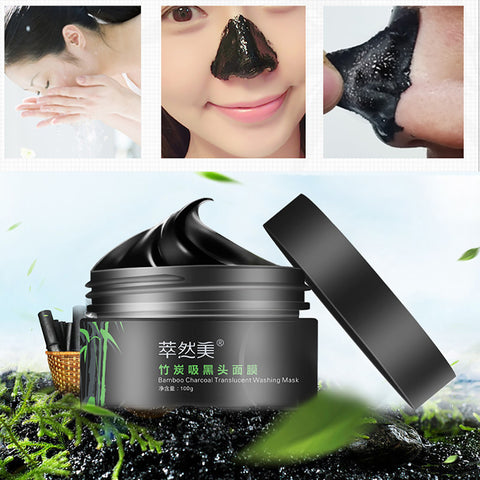 Bamboo Charcoal Blackhead Remover Deep Clean Purify Peel Off Mud Face Mask