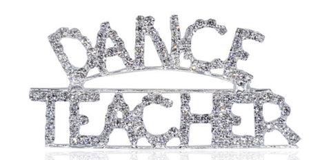 Rhinestone Dance Teacher Brooch