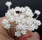 Rhinestone floral Hair Pin