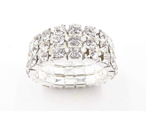 Rhinestone ring - 3 row