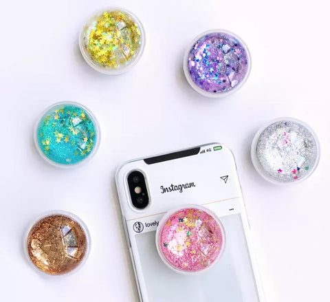 Glitter pods pop sockets