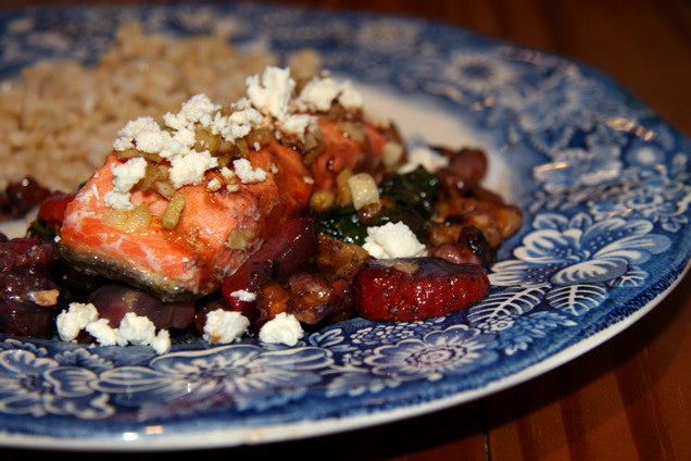 Strawberry and Feta Sockeye