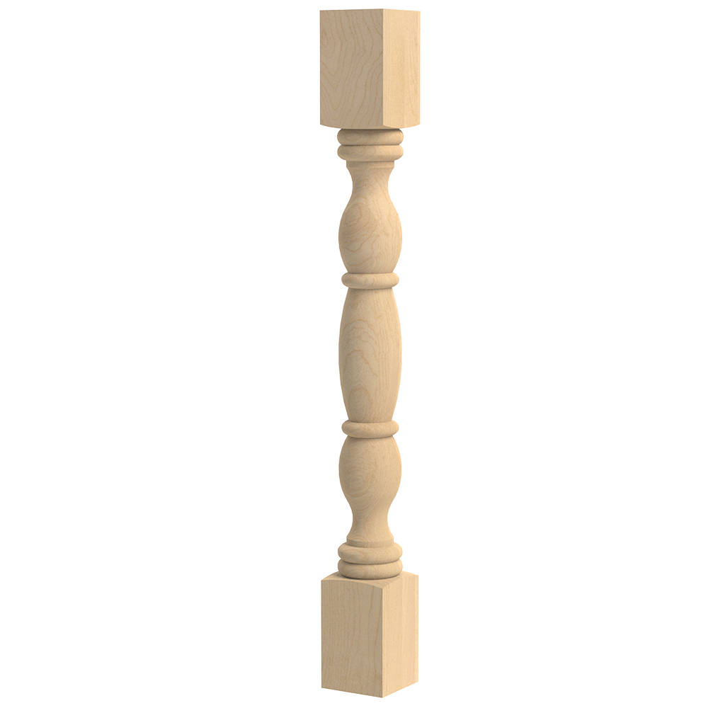 English Country Double Square Column
