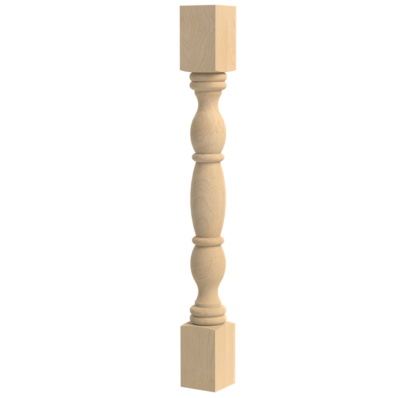 English Country Double Square Column 35.25