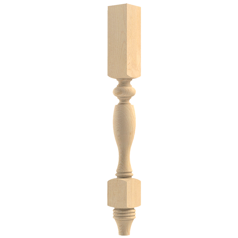 French Country Double Square Column