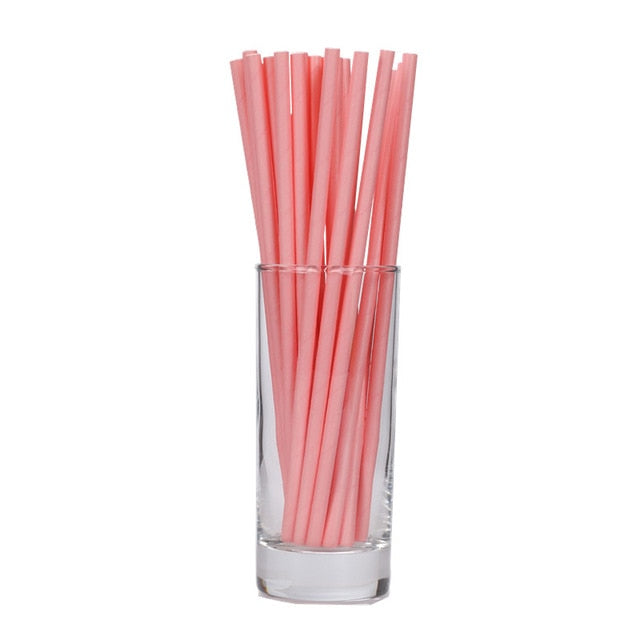 drop shipping 25pcs/lot  sky blue pink  Paper Drinking Straws Drinking Tubes Party Supplies Decoration Baby shower