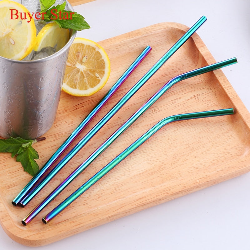Rainbow Party Straws Bar Accessories