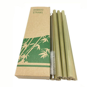 12PCS Straws Natural Bamboo Drinking Utensils Environmentally Friendly Household Straws