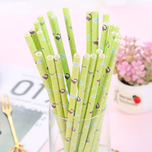 25pcs/pack Disposable Paper Straws Vintage Stripe Drinking Straws for Kids Birthday Party Decoration Wedding Party Decorations