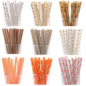 25pcs Wedding and Decor Disposable Straws