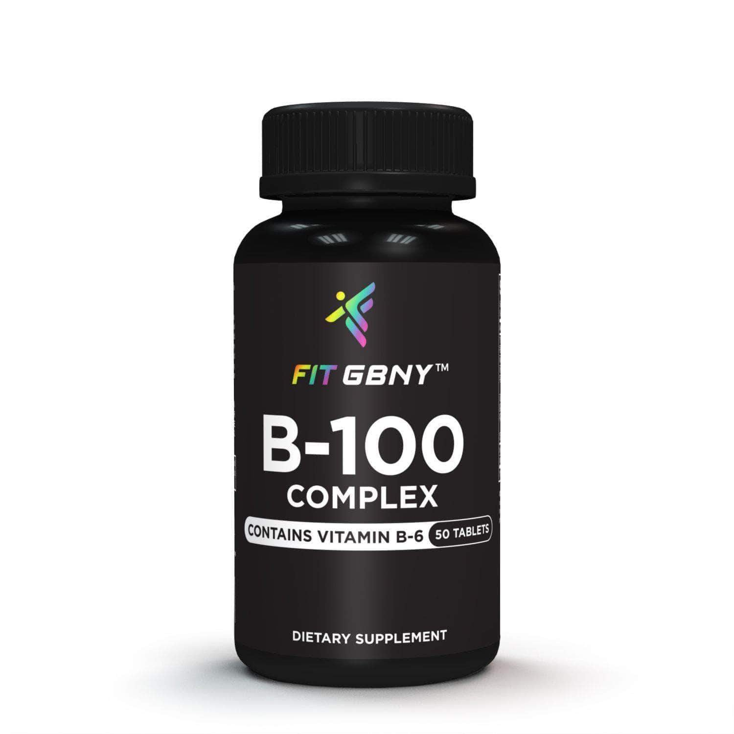 FIT GBNY Supplements Fit GBNY B-100 Complex Contains Vitamin B-6 (50 Tablets) FGBVB100