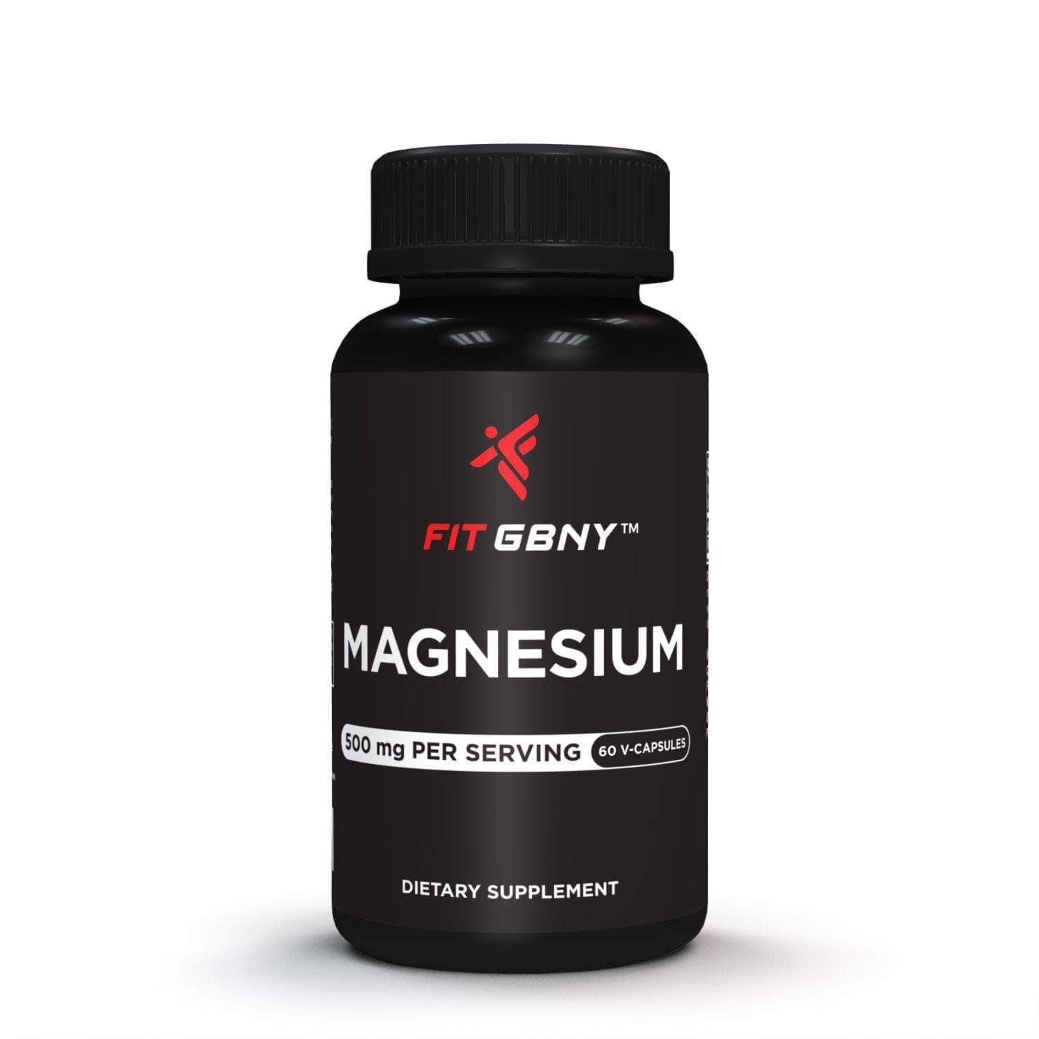 FIT GBNY Supplements Fit GBNY Magnesium 500 mg (60 Veg-Capsules) FGBM500