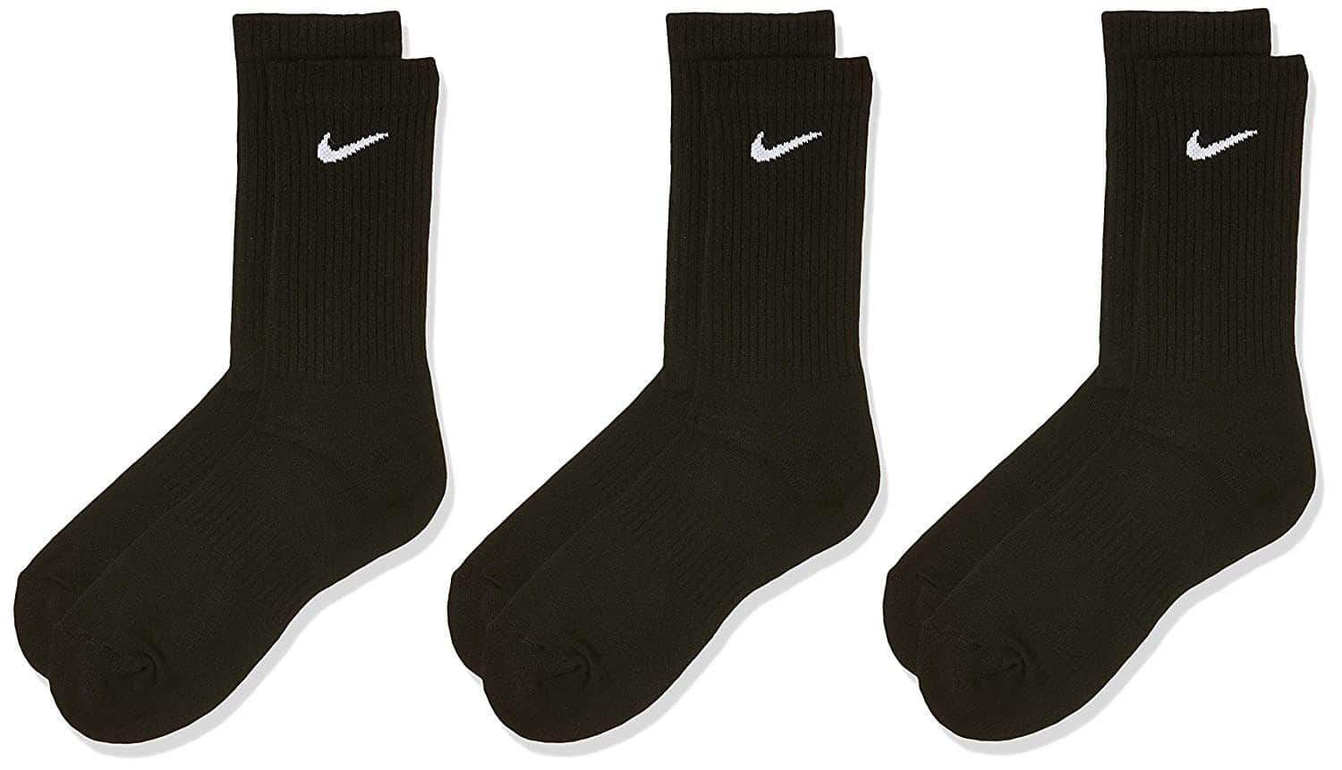 GBNY XL Nike Everyday Cushioned Training Crew Socks (3 Pairs) 883419009433 SX7664-010