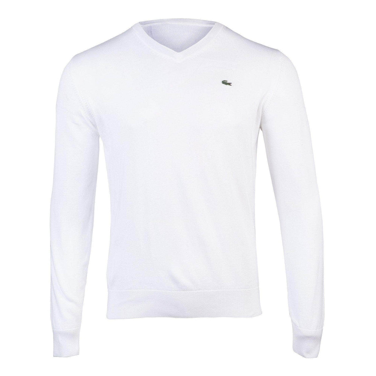 Lacoste APPAREL Lacoste Cotton Jersey V-Neck Sweater - Men's