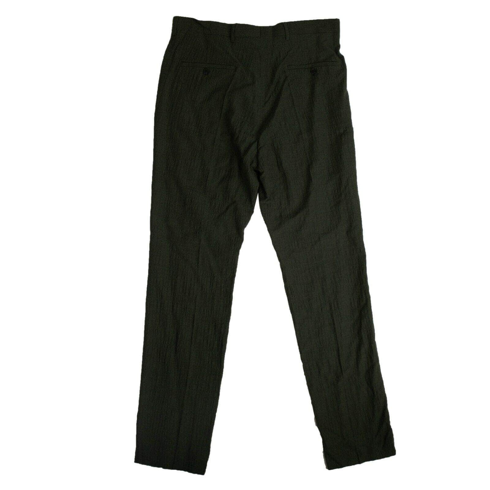 Rick Owens 250-500, couponcollection, gender-mens, main-clothing, mens-pants, rick-owens, size-m-50, size-s-48, size-xs-46 Crinkle Effect Tailored Pants - Forest Green