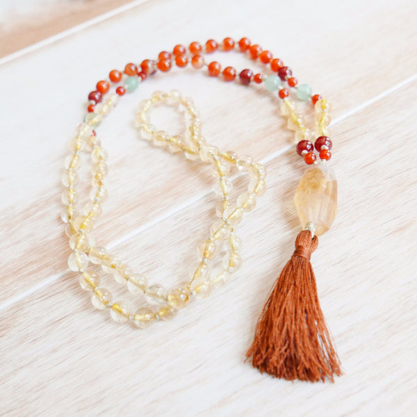 Manifest Mala - Handknotted 108 Mala Bead Necklace