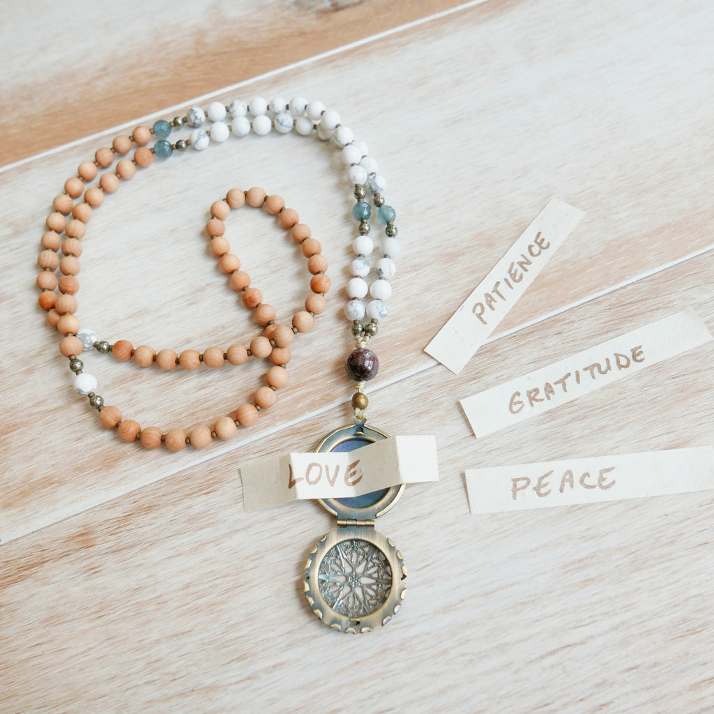 Howlite Intention Mala - Handknotted