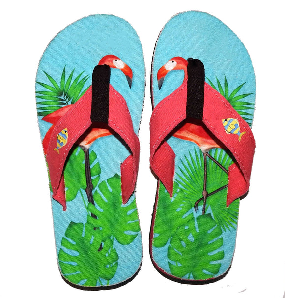 Comfort Canvas Flamingos Flip Flops :)