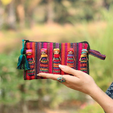 Sustainable Fabric Worry Doll Pouch - Guatemala - TAO 919