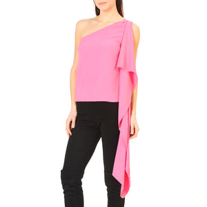 Annarita N Pink One Shoulder Top