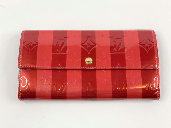 Vintage LV Sarah Wallet - Red/Pink Vernis Leather - 10 Card - TAO 919