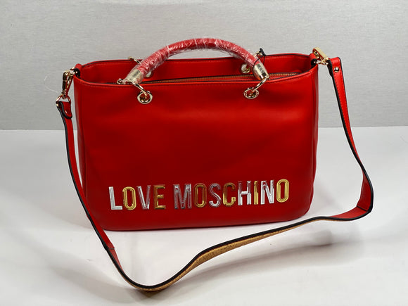Red Love Moschino Bag with Gold Sequin Strap - TAO 919
