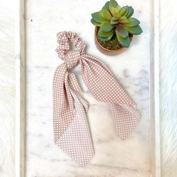 Hair Tie Scarf Scrunchie - Polka Dot - TAO 919