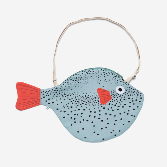 Aqua Pufferfish Bag - Big
