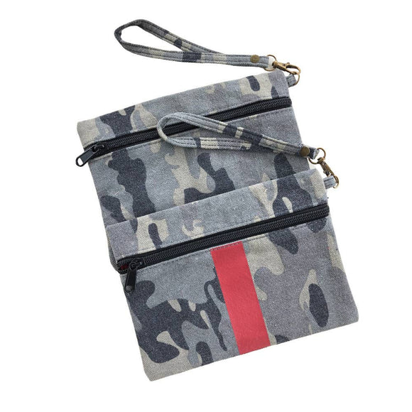 Canvas Camo Clutch/Wristlet
