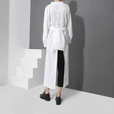 BREEKS CONVERTIBLE BUTTON DRESS - WHITE - TAO 919