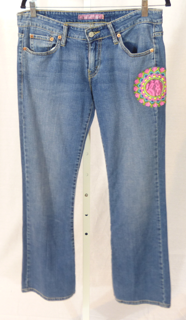 Levis 524 w/Pink Medallion Jeans - TAO 919