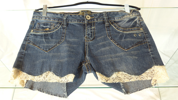 Wallflower Denim & Lace Shorts