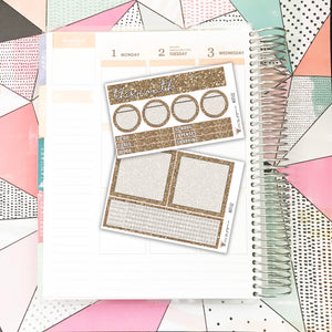 NOTE02 // Notes Pages Kit // Espresso Glitter
