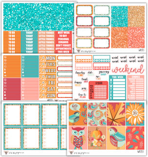 Fall Sparkle Collection // Planner Stickers