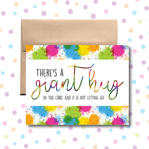 GC0104 There's a Giant Hug in Here Card