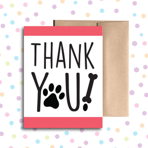 GC0112 Paw Print Thank You Card