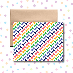 GC0113 Bone Pattern Card