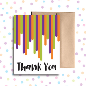 GC0118 Dripping Art Thank you Card