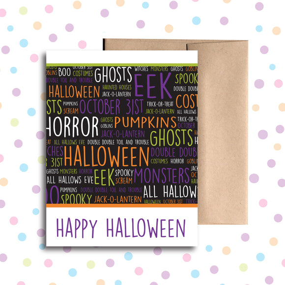 GC0119 Happy Halloween Card