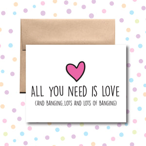 GC0131 All You Need is Love and Banging Card