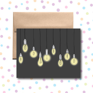 GC0136 Light Bulbs Card